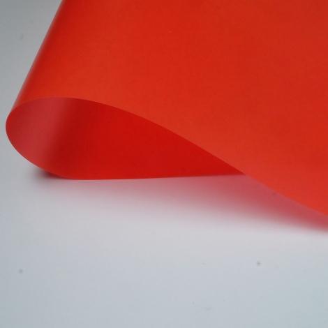 PLAKENE VERMELL TRASLLUÏT      1050 X 750 X 0.5 mm