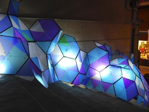 Luces con Plakene de colores